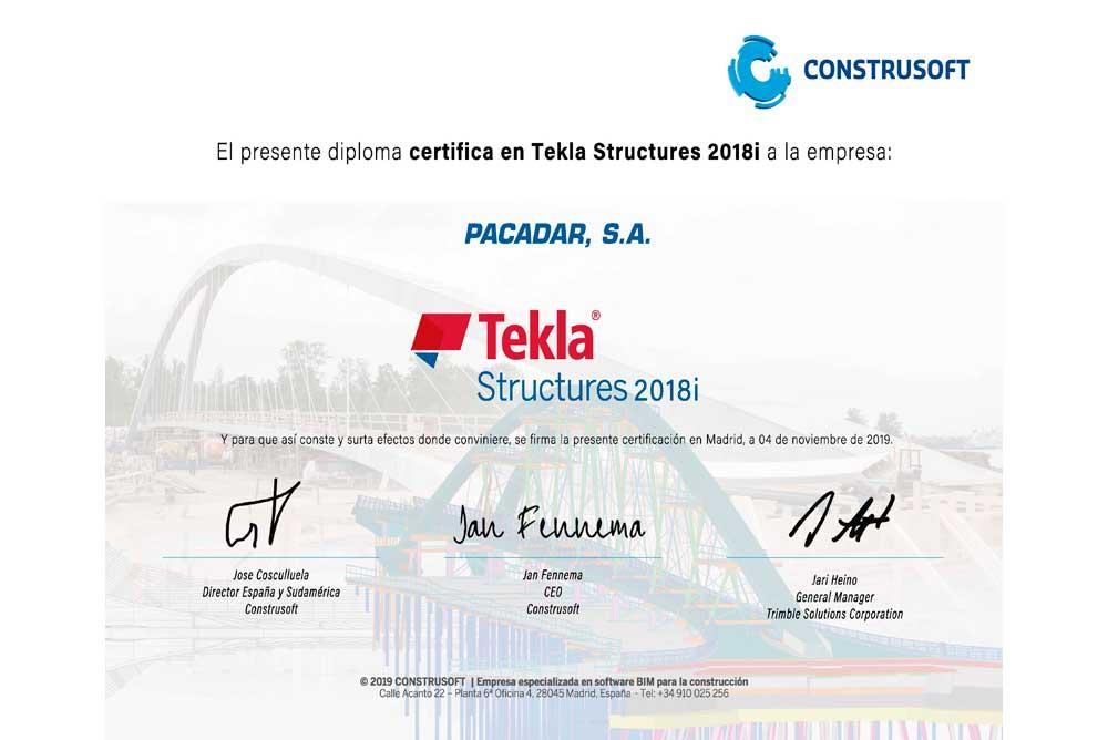 Tekla Structures 2018i Acreditation