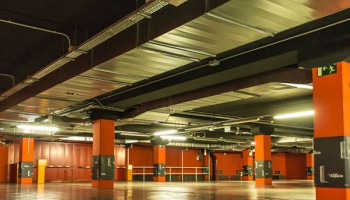Underground Car Park For Torre Espacio, Madrid (Spain)