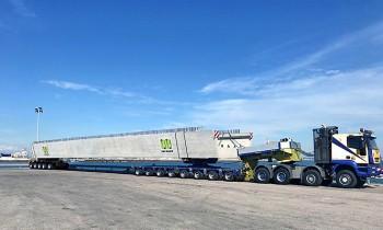 PACADAR supplies heavy box girders to the island of Fuerteventura (Canary Islands)