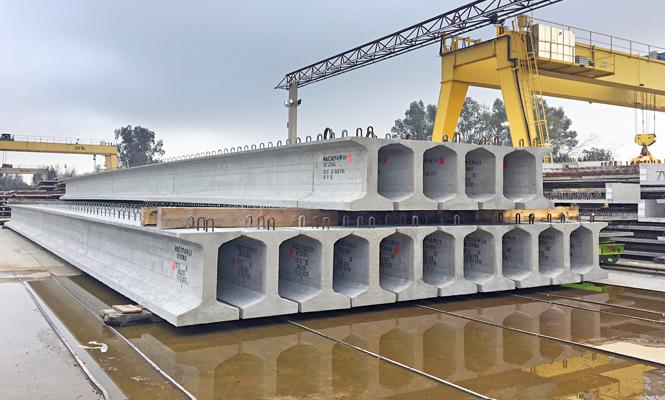 Pacadar supplies precast beams for Malaga metro