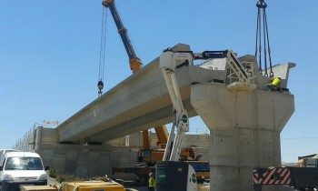 Assembly of underpass for the new access road to Roquetas de Mar and Vícar (Spain)